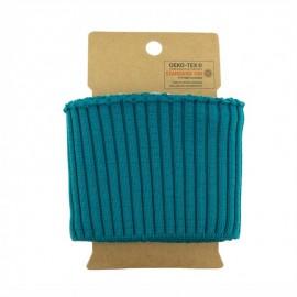 Cotton ribbed cuffs  (110x8cm) - Peacock Blue