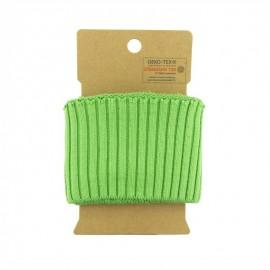 Bord cote coton Oeko-tex (110x8cm) - Vert Pomme