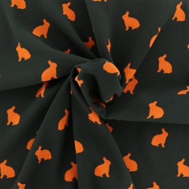 Tissu crêpe Rabbit shadow - orange x 50cm