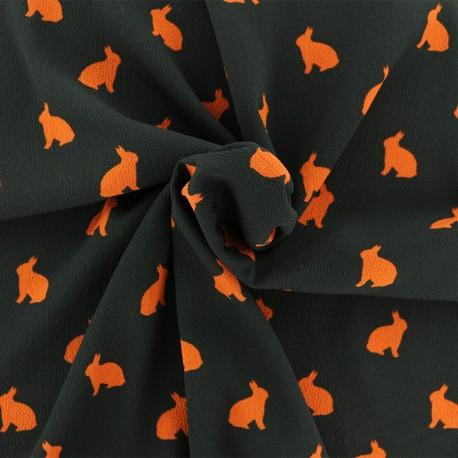 Tissu crêpe Rabbit shadow - orange x 50cm