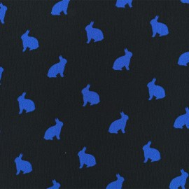 Tissu crêpe Rabbit shadow - bleu x 50cm