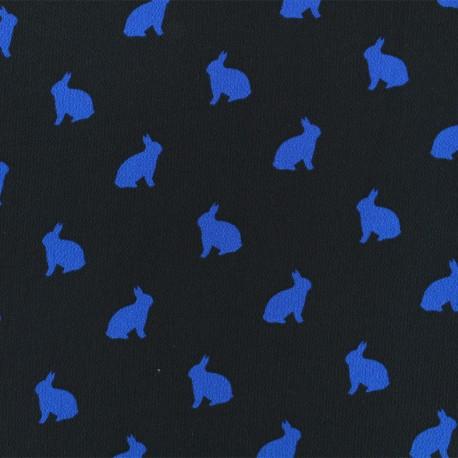 Crêpe Fabric - Blue Rabbit shadow x 50cm