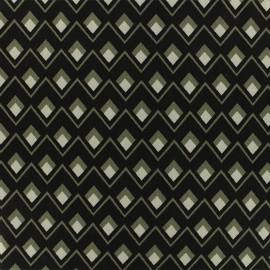 ♥ Coupon tissu 40 cm X 140 cm ♥ viscose sergé Graphique - noir/gris