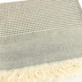 French Cotton Blanket - Black Montagne Noire