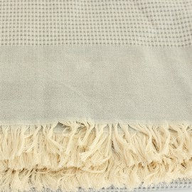 French Cotton Blanket - Grey Montagne Noire