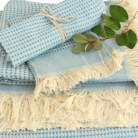 Cotton Bath Towel - Blue Montagne Noire