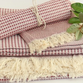 Cotton Bath Towel - Red Montagne Noire