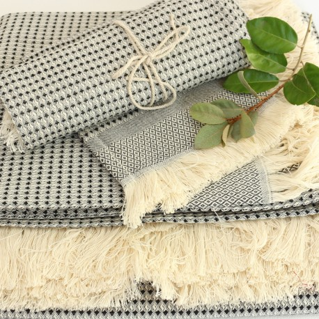Cotton Bath Towel - Black Montagne Noire