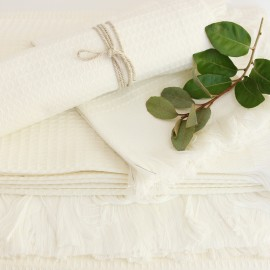 Cotton Bath Towel - White Montagne Noire