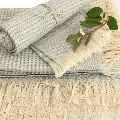 Cotton Bath Towel - Grey Montagne Noire