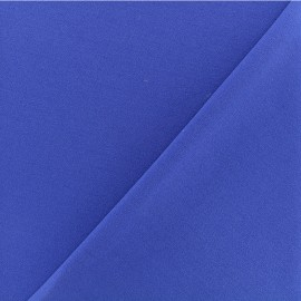 Crepe aspect Neoprene scuba fabric  - Royal blue x 10cm