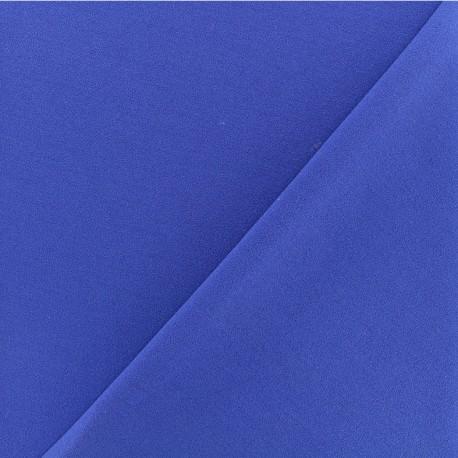 Crepe aspect Neoprene scuba fabric  - Royal blue x 10cm