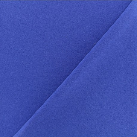 Tissu Néoprène Scuba Aspect crêpe - bleu royal x 10cm