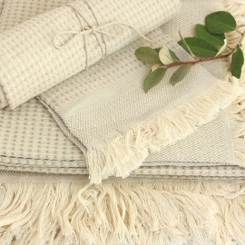 Linen Bath Towel - Natural Montagne Noire