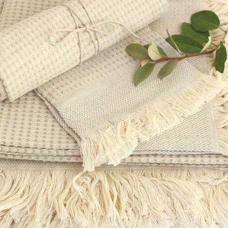 Linen Bath Towel - Natural Montagne Noire
