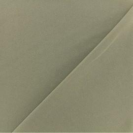 Tissu Néoprène Scuba Aspect crêpe - Vert Olive x 10cm