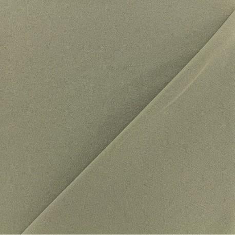 Crepe aspect Neoprene scuba fabric  - Olive green x 10cm