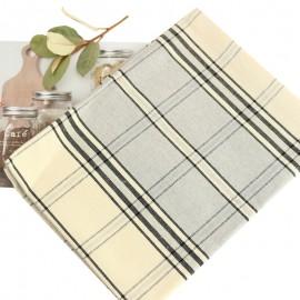 Checkered Tea Towel - Grey Montagne Noire