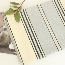 Striped Tea Towel - Grey Montagne Noire