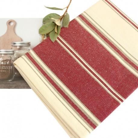 Striped Tea Towel - Red Montagne Noire