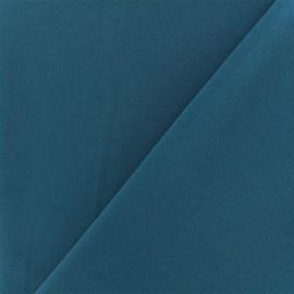 Crepe aspect Neoprene scuba fabric  - Petrol blue x 10cm