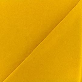 Tissu Néoprène Scuba Aspect crêpe - moutarde x 10cm