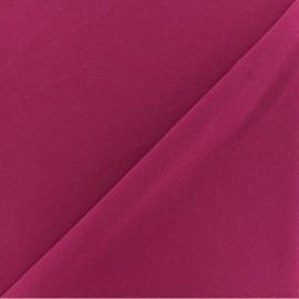 Crepe aspect Neoprene scuba fabric - fuchsia x 10cm