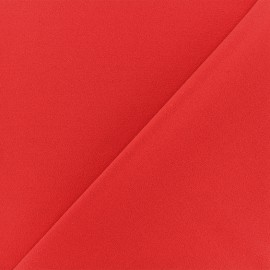 ♥ Coupon 10 cm X 150 cm ♥ Crepe aspect Neoprene scuba fabric - red
