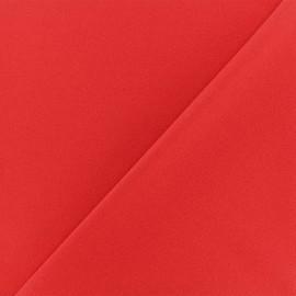 ♥ Coupon 10 cm X 150 cm ♥ Tissu Néoprène Scuba Aspect crêpe - rouge