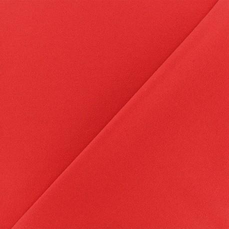 Tissu Néoprène Scuba Aspect crêpe - rouge x 10cm