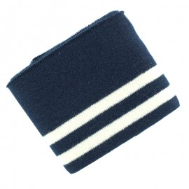 Organic Striped Ribbing Cuffs (110x7cm) - Navy
