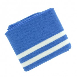 Organic Striped Ribbing Cuffs (110x7cm) - Blue