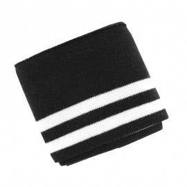 Organic Striped Ribbing Cuffs (110x7cm) - Black
