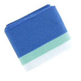 Organic Striped Ribbing Cuffs (110x7cm) - Blue/Mint