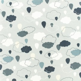 Jersey fabric - Grey cloudy weather x 10cm