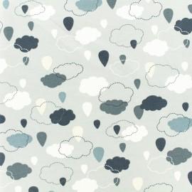 Tissu jersey Temps nuageux - gris x 10cm