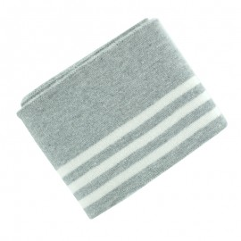 Organic Striped Ribbing Cuffs (110x7cm) - Grey