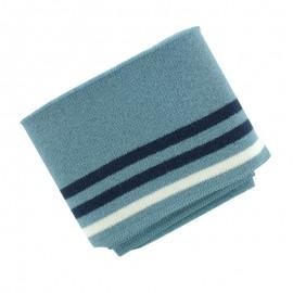 Bord Cote Rayé Bio (110x7cm) - Bleu Fumé
