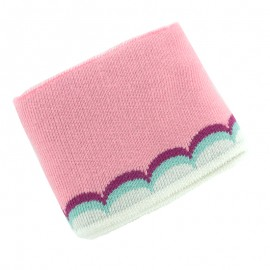 Organic Scallop Ribbing Cuffs (110x7cm) - Pink