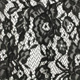Tissu Dentelle Luisa - noir x 10cm