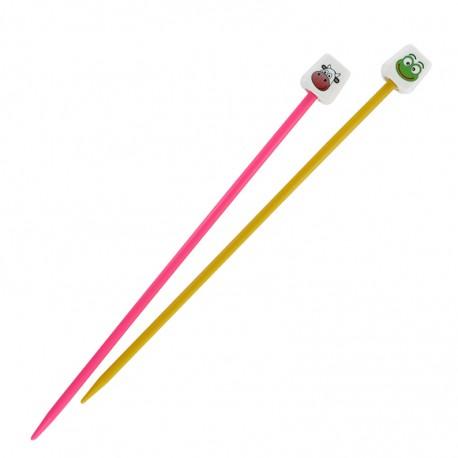 Pony animal knitting needles 18 cm x 4 mm