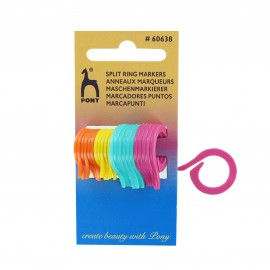 Split ring markers - multicolored