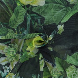 Tulle fabric - Green Esteva x 10 cm