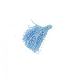 25 Mini Pompons Coton - Bleu Céleste