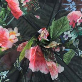 Tissu tulle Esteva - rouge  x 10cm
