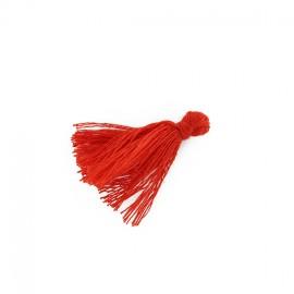 25 Mini Pompons Coton - Rouge