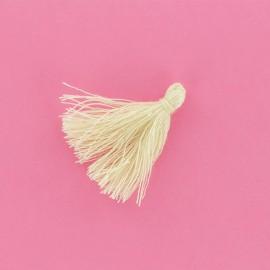 25 Mini Cotton Pom Poms - Beige