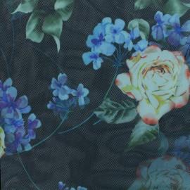 Tissu tulle souple Evelina - noir  x 10cm