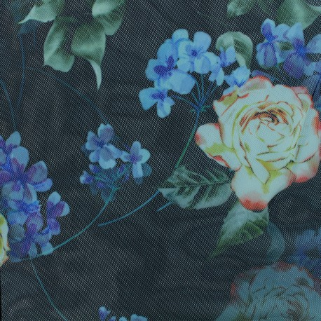 Tulle fabric - Black Evelina x 10 cm