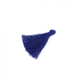 25 Mini Cotton Pom Poms - Navy Blue